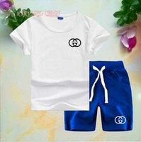ingrosso vestiti di marca bebe-T-shirt e pantaloncini di marca per bebè e ragazzi Tute di marca per bambini 2 Abbigliamento per bambini Set T-shirt per bambini T52136