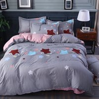Wholesale blue pattern duvet cover for sale - Group buy Pattern Fitted Sheet Set Sanding Pillowcases Bedding Set Bed Sheet with Elastic Band Mattress Cover Bed Linen