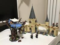 films de noël enfants achat en gros de-16054 Harri Potter Film The Legoing 75953 Poudlard Saule Saignant, Ensemble De Blocs de Construction Briques Enfants Jouets Cadeaux De Noël Modèle
