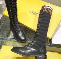 calcetines calientes para mujer al por mayor-Diseñador de moda de lujo para mujer muslo botas altas cálidos Calcetines de punto casual Martin botas senderismo botas deportivas damas invierno bootss size8.5