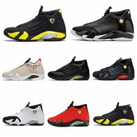 ingrosso aria retro 14-Nike Air jordan 14 Retro AJ AJ14 all'ingrosso 14 XIV BRED ULTIMO SHOT DESERT SABBIA uomini scarpe da basket scarpe da ginnastica sneakers sportive da donna di alta qualità esterna