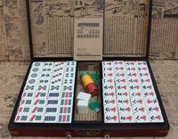 grandes livros venda por atacado-Abastecimento Partido Mahjong Com Antique Box E Livro de Instruções Big turismo Mahjong Dormitório para o partido Mahjong Jogar CGL ST026