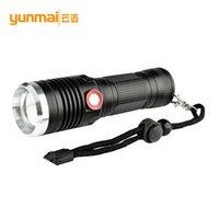 ingrosso illuminazione elettrica-Cross Border per Usb Charge T6 Light Electricity Prompt Nuovo modello 26650 Flashlight