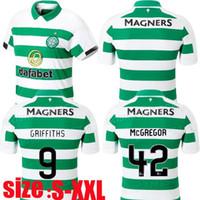 novos uniformes marrons venda por atacado-19 20 MCGREGOR GRIFFITHS Camisas de futebol New Celtic SINCLAIR FORREST BROWN ROGIC CHRISTIE Casa Camisas de futebol Uniformes de manga curta