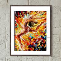 yağlı boya tuvalleri toptan satış-Afremov Aşk Dans Tuval Boyama Baskı Oturma Odası Ev dekor Modern Duvar Sanat Yağlıboya Posteri Salon Resim Yapıt