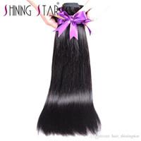 продажа кудрей человеческих волос оптовых-Горячая продажа на dhgate 100% человеческих волос прямые натуральные черные волосы ткачество может быть завит не пролить 3 пучки
