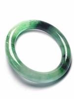 joyas de jade natural al por mayor-Koraba Fine Jewelry Vintage 100% jadeíta verde natural JADE pulsera brazalete mujeres envío gratis