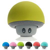 becherhalterlautsprecher großhandel-Wholesale netter beweglicher Pilzminilautsprecher wasserdichter drahtloser Bluetooth Lautsprecher-Handy-Auto-Halter-Minilautsprecher mit Saugschale