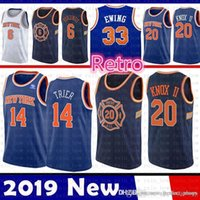 65c73afff New York Jersey Knicks Kevin 20 Knox II Allonzo 14 Trier Patrick 33 Ewing  Basketball Jerseys 2019 New The City Mesh Retro
