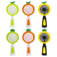 Wholesale pineapple led light for sale - Group buy Fruit Handheld Fan Cartoon Pineapple USB Rechargeable Mini Fan with LED Night Light Speed Portable Desktop Fans OOA8015