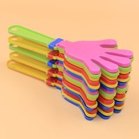 Wholesale hand clappers noise makers resale online - 600pcs Plastic Hand Clapper Clap Toy Cheer Leading Clap For Olympic Game Football Game Noise Maker Baby Kid Pet Toy RRA2734