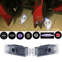 mini cooper luzes venda por atacado-Luzes de Boas-Vindas Da Porta do carro Logotipo Do Projetor Para BMW Mini Cooper R55 R57 R58 R59 R60 S Countryman S JCW F54 F55 F56 F57