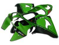 zx9r обтекатель черный оптовых-3Gifts Новый комплект обтекателей АБС для Ninja Kawasaki ZX9R 2000 2001 Части мотоцикла для обтекателя 900 куб. См ZX-9R ZX 9R 00 01 Custom черный зеленый Великобритания