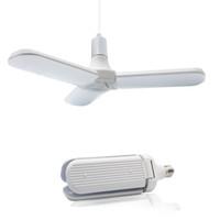 livraison gratuite e14 ampoule de bougie achat en gros de-LED Lampes Pendent Pliable ventilateur lame Ampoule E27 45W 95-265V Super Bright lumières angle réglable Accueil d'économie d'énergie Lumières de plafond