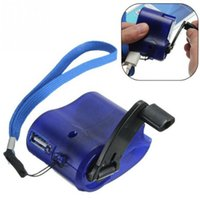 Wholesale hand dynamo charger resale online - Universal Portable Emergency Hand Power Dynamo Hand Crank USB Charging Charger for All Brand Mobile Phones Novelty Items CCA11783