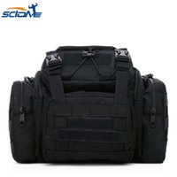 ingrosso messaggero tattico casuale-Scione Military Tactical Assault Pack Borsa a tracolla Army Molle moda casual impermeabile in nylon a tracolla messenger borse da ginnastica sport # 672787