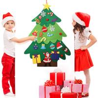 yılbaşı ağacı pencere çıkartmaları toptan satış-Noel Ağacı Renkli Süslemeleri ile Pencere Cam Kapı Duvar Çıkartmaları Çıkartmaları Kahve Kantin Ev Yatak Odası Için Vitrin