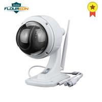 Wholesale camera sd ir ip online - FLOUREON P Wifi mm H Wireless CCTV Security TF Micro SD Card XZOOM IR CUT IP66 Dome PTZ IP Camera EU IP66
