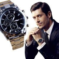 ingrosso macchine da guardia al quarzo-Fashion Business Dress Men Watch Cinturino in acciaio inossidabile Reloj analogico al quarzo Orologi da uomo di lusso Relogio Masculino
