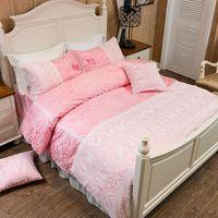 Wholesale girls princess bedding sets for sale - Group buy White lace princess bedding set for girls women king queen size bed set duvet cover bed linen pillowcase