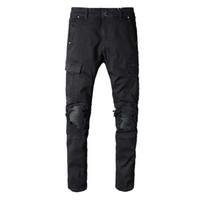 Wholesale korea plus size clothing for sale - Fashion kpop tight hole Korea hip hop fashion black pants cool men s urban clothing jumpsuit men s jeans