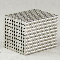neodymmagneten n35 3mm großhandel-3X2mm Neodym Disc Super starke seltene Erde N35 kleine Kühlschrankmagnete 3mm Magnete Spiele Magnete
