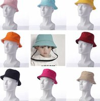 Kids Face Shield Hats Protection Baby Face Shield Fisherman Hat Removable Clear Shield Anti Droplets Bucket hat KKA7854