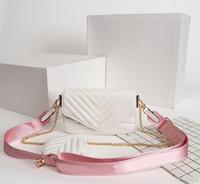 Wholesale leather shoulder pack resale online - Designer Luxury Handbags Purses Multi Pochette New Wave Bag Women Brand Bag Three Piece Suit Waist Pack Real Leather Shoulder Bags