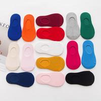 ingrosso ragazzi calze invisibili-Bambini calzini sportivi bambini nuovo colore della caramella cotone doppio ago invisibile calze alla caviglia da barca ragazzi ragazze Athletic Casual designer calzino
