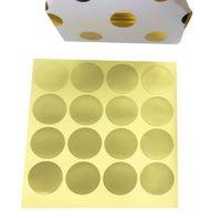 pequeños paquetes de pegatinas al por mayor-1600 unids / lote Redondo Pequeño Oro en blanco Hecho A Mano Pastel de Embalaje Sellado Etiqueta Engomada de Hornear Pegatinas de Regalo