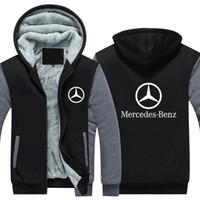 araba hoodies toptan satış-2019 Kış erkek Spor Ceketler Araba Logolar Baskı Palto Adam Fermuar Koleji Harajuku Tişörtü Için Hoodies Kalınlaştırmak