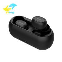 bluetooth qcy al por mayor-QCY T1C Mini Auriculares Bluetooth con micrófono Auriculares deportivos inalámbricos Cancelación de ruido Auriculares y caja de carga