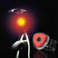 luzes de freio traseiro de bicicleta venda por atacado-Nova Lâmpada de Luz de Freio inteligente Recarregável USB Bicicleta Traseira Bicicleta Luz Nova Equitação