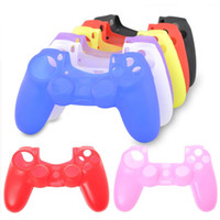 ps4 controller silikon abdeckung großhandel-Silikon Hülle für PS4 Controller Gamepad Griff Soft Rubber Shell Haut für Sony Playstation Dualshock 4 Wireless Controller Joystic