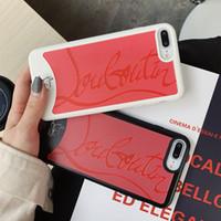 freies verschiffen blackberry beutel großhandel-Sneakers case für iphone xr xs max case marke rote untere telefon case abdeckung coque iphone 6 6 s 7 8 plus x zurück soft cover