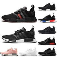 черные дышащие кроссовки мужчины оптовых-С Носками 2019 Япония Triple Black белый красный OG розовый мужчины кроссовки бегун дышащая спортивная обувь мужские кроссовки дизайнер кроссовки