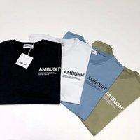 ingrosso maglietta di strada di qualità-19SS Ambush Logo stampato Tee maniche corte uomo donna estate casual semplice strada skateboard moda t-shirt di alta qualità HFLSTX355