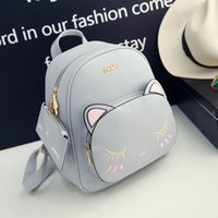 Wholesale cute college bag style resale online - Bag New Summer Mini Multi Purpose Backpack Female Korean Style Kitten Cute Small Backpack College Style ZQ