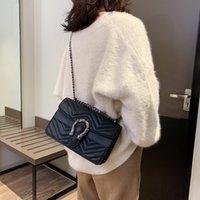 bayanlar büyük moda çantaları toptan satış-Lüks Moda Büyük Flap Çanta Çanta Kadın Ünlü Markaların Tasarımcısı Crossbody Çanta Kadın Omuz Çantaları 2019 Zincirler Bayanlar Çanta