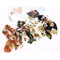 Wholesale woman tiaras for hair resale online - Women Rubber Bands Tiara Satin Ribbon Bow Hair Band Rope Scrunchie Ponytail Holder Elastic Gum for Hair Accessories