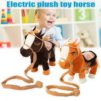 Wholesale animal horse games for sale - 25cm Electric horse Walking Plush Toy Doll Toys Electronic Music toy Singing Machinery Pony Kids Toy gift party favor Novelty Games FFA1549