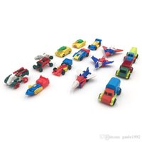 ingrosso deposito di compleanno-Mini Model Cartoon Diecast Car Aircraft Tank Scolaro Ragazzi Birthday Festival Christmas Party Plastic Gift 0 75hh hh