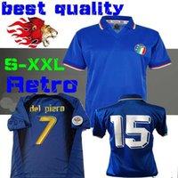 camiseta copa mundial de fútbol italia al por mayor-Copa del mundo retro ITALIA 1990 Inicio Fútbol camisa del fútbol JERSEY Maldini Baggio Donadoni Schillaci Totti Del Piero 2006 Pirlo Inzaghi