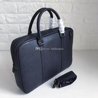 Wholesale canvas document holders resale online - B Brand Mens Business Bag Real leather Mens Document Bag High Quality Men Briefcases Designer Brand Mens Bag Brand