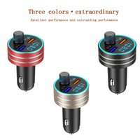 Wholesale best mp3 player resale online - best selling products Muti color Qc3 Car Dual Usb Charging Bluetooth Mp3 Player Fm Transmitter support dropshipping