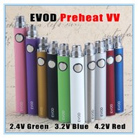 Wholesale usb chargers for e cigarettes for sale - Group buy E Cigarette Thread VV Vape Pen Preheating Battery Adjustable Variable Voltage with USB Chargers for Wax Dab Oil Vaporizer Cartridge