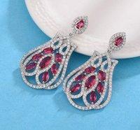 Wholesale knot earings resale online - high quality fashion diamond crystal silver women s cross earings xc