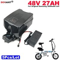 bateria de bateria de lítio de 48v venda por atacado-Frete Grátis Atacado 5 pçs / lote bateria de lítio 48 V 27AH Bateria de Lítio Scooter Elétrico 1000 W E-Bicicleta Da Bateria 48 V + 2A Carregador