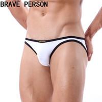 meninos cueca branca venda por atacado-2019 Hot New Arrival Mens Sexy Underwear Homens Briefs Hombre Cuecas Gay Homem Meninos Biquíni Cueca Homens Marca Branca breve