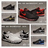 ingrosso casuale zaino marcia-Sneakers 2019vapormaxMens designer off air boost Gomma plastica Running Shoes cushion Nero Sport bianco Casual sneakers 0con box